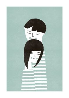 The couple print by blancucha on Etsy,
