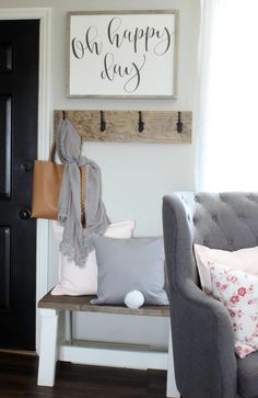 Cottage Style Spring Home - Oh Happy Day Love the cotton tail on the pillow