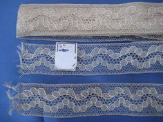 Antique Lace Length of Narrow Handmade Fine Bobbin Lace Insertion Total Piece | eBay