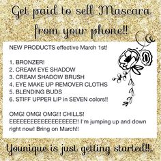 Younique is sooo amazing!!!! New products and new markets!! We are going big!! Wanna join and start the journey of a lifetime