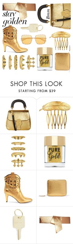 """""""Gold I"""" by bianca1408 ❤ liked on Polyvore featuring Burberry, Des Petits Hauts, Luv Aj, Marc Jacobs, Comme des Garçons, The Giving Keys, Maison Boinet and Elie Saab"""
