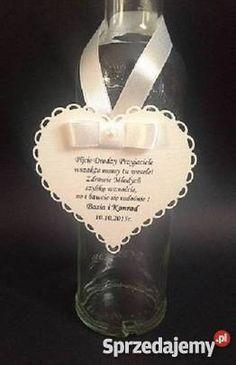 zawieszki na wódkę weselną serce - Google-Suche