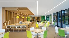 Interior Design Magazine - Perkins+Will - Astellas in London. Cool movement in the wall Corporate Interior Design, Corporate Interiors, Commercial Interior Design, Commercial Interiors, Office Interiors, Retail Design, Interior Office, Office Space Design, Workplace Design