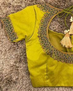 Blouse Back Neck Designs, Cutwork Blouse Designs, Simple Blouse Designs, Stylish Blouse Design, Bridal Blouse Designs, Saree Blouse Designs, Blouse Patterns, Simple Designs, Mode Abaya