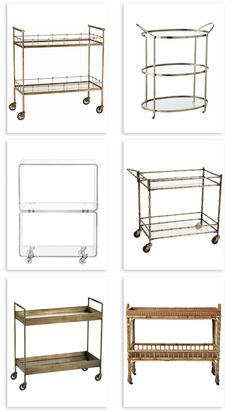 Favorite bar carts. Good Bones, Great Pieces.