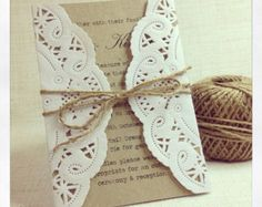 Rustic Chic wedding invitation sample by StunningStationery