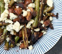 Grilled Asparagus & Mushrooms with Stilton