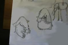 "Flash mob ""Drawing character by pictures"". Mine is an elephant. #darkair #air #elephant #character"