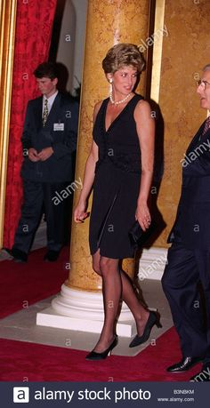Princess Diana attending reception to mark 1994 London fashion week October 1994