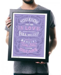 """You know you are in love when you can't fall asleep because your reality is finally better than your dreams."" $7 from the purchase of each item offered on sevenly.org is donated to the cause of the week."