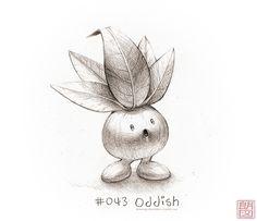 #43: Oddish from drawingsofpokemon.tumblr.com