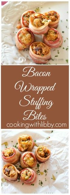 Bacon Wrapped Stuffing Bites | Cooking With Libby