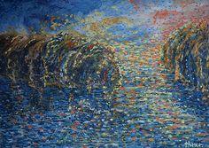 Jazero, olej na plátne 50 x 70 cm, Pavel Huszár, Banská Bystrica, Slovakia