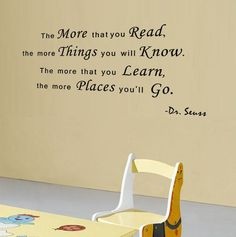 The More That You Read Wall Decal