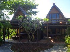 Nice villa's at hotel Vila Ombak. Gili Trawangan, Cabin, House Styles, Home Decor, Decoration Home, Room Decor, Cabins, Cottage, Home Interior Design