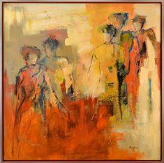 Maria de Vries - Silhouetten - Art Center Hoorn   De Molensteen Abstract Portrait, Abstract Art, Soft Pastel Art, Art Van, Impressionist Art, Figure Painting, Painting & Drawing, Sacred Art, Art Plastique