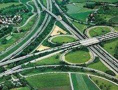 Autobahn in Germany!  ALMOST looks pretty.