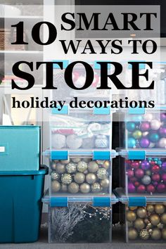 10 smart ways to store Christmas decorations - Dory Fitz