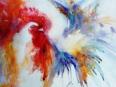 Животные в живописи акварелью от Jean Haines