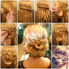 Here is a nice tutorial on how to make a braided low bun hairstyle. Isn't that gorgeous? The upper half of the hair is woven into a braid and then intertwined with the curly bottom half of the hair. This low bun with a thick braid wrapped over makes this fabulous hairstyle the …