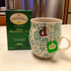 My favorite breakfast tea, on St Patrick's Day and everyday!