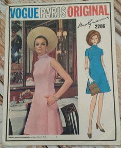 Vtg Vogue Paris Original Sz 10 Molyneux Pattern A-line Dress Front Seams Pockets | Collectibles, Sewing (1930-Now), Patterns | eBay!