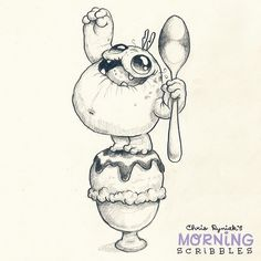 There's no such thing as too much ice cream!  ✊⚡️#morningscribbles