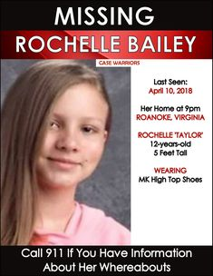 Find Missing Rochelle Taylor Bailey! is the new case of a young girl, not yet a teen, who was last seen at home at night. Where is Rochelle?