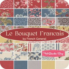 Le Bouquet Francais Jelly RollFrench General for Moda Fabrics - Jelly Rolls | Fat Quarter Shop