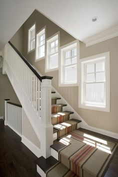 great staircase banister and windows