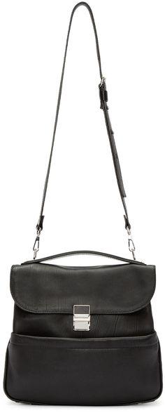 Proenza Schouler Black Medium Kent Shoulder Bag