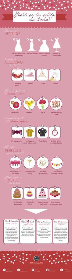 Toma este test y encuentra el estilo ideal para tu boda #BodaTotal