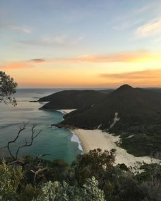 View of Zenith beach from Mt. Tomaree, Port Stephens NSW