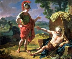Alexander and Diogenes, 1818 by Nicolas Andre Monsiau