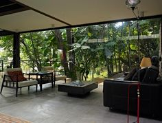 Casa Pena...Love the idea of sitting in a room like this, esp on a rainy day :D....