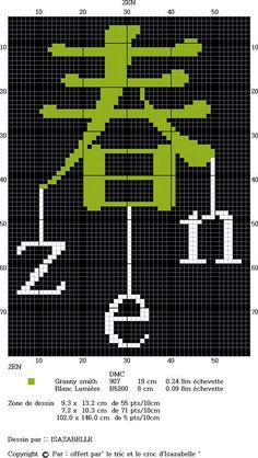 grille point de croix zen gratuite