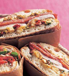 Artichoke, Fresh Mozzarella & Salami Sandwich