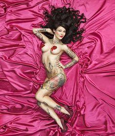 Sexy Tattooed Women. Cara Mia. #inked #model #sexy #tattooed #women #bodycanvas #canvas