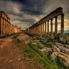 Apamea - Syria I was amazed by the ruins.Many greater than those I saw in Greece. Places Around The World, Around The Worlds, Places To Travel, Places To Visit, Ancient Ruins, Ancient Greek, Sweden Travel, Ancient Architecture, Kirchen