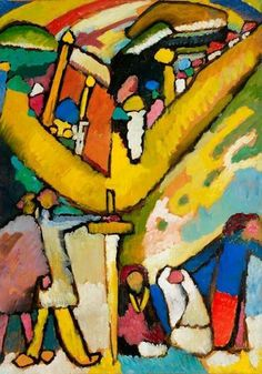 Wassily Kandinsky, Studie for improvisation 8, painted in 1909 in Murnau, oil on cardboard laid down on canvas.
