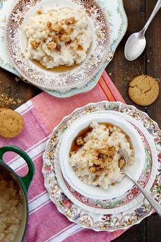 Maple Ginger Rice Pudding @joythebaker