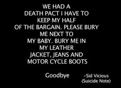 Sid's Suicide note