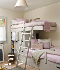 Cool Bunk Bed Rooms bunk beds | floating nightstands | under bed storage | bedroom