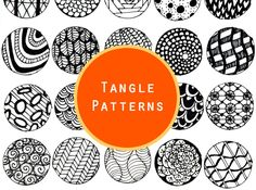Zentangle patterns and some awesome tangle starter sheets to download.