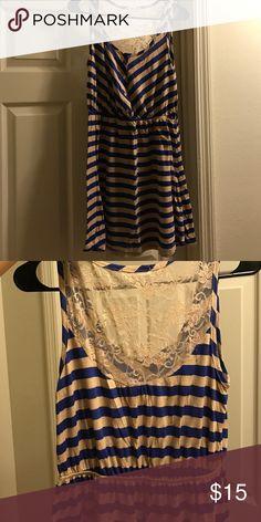 Stripe dress ! Stripe tan and blue ! Dresses