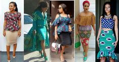 Ankara Skirts for church and the TGIF office outfit, Skirts comes in altered lengths, styles, and abstracts and are staples in every girl's wardrobe. Ankara Skirt, Kitenge, Office Outfits, Every Girl, Tgif, Shoulder Dress, Woman, Skirts, Dresses
