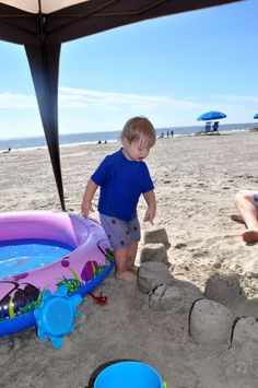 What to pack for a beach vacation with a toddler and a baby!