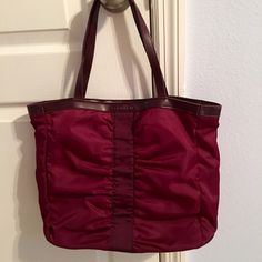 "❤️NWOT Calvin Klein Tote Bag! Great Price! Wine colored NWOT Calvin Klein tote bag! Has one big slip pocket inside! No flaws! Snap closure! 16"" W x 12"" L great price for Calvin Klein Calvin Klein Bags Totes"