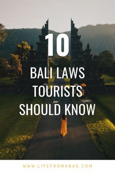 Important Bali local traditions, customs and laws to know. travel 10 IMPORTANT Bali Laws Tourists Should Know - My Life from a Bag Bali Travel Guide, Asia Travel, Solo Travel, Travel Guides, Travel Abroad, Travel Tips, Travel To Bali, Travel Plane, Travel Books