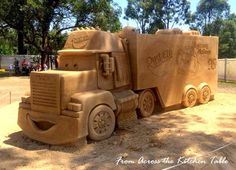 Sand sculping